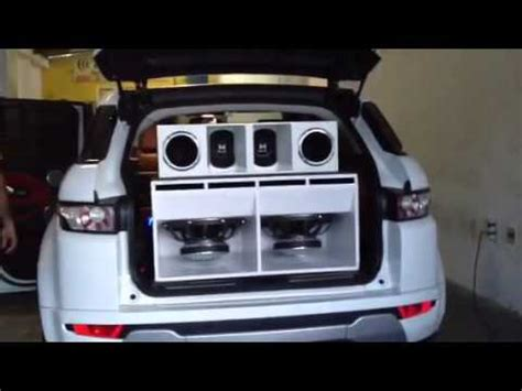 som na range rover evoque (((tico som))) youtube