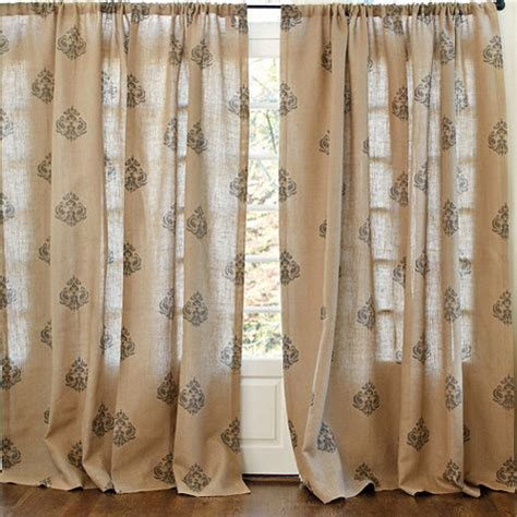 ballard design curtains printed damask burlap panel traditional curtains by ballard designs