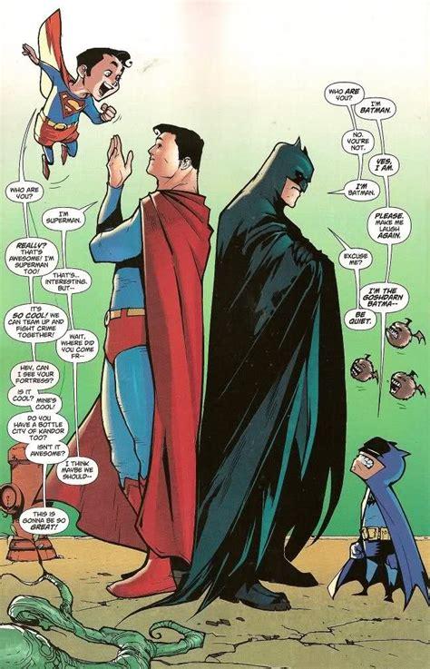 Sunday Sunnies Brooch Multi when batman and superman meet their former selves funnies batman and superman dc comics