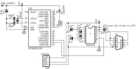 serial port pic programmer circuit diagram avr based serial port ir receiver electronic