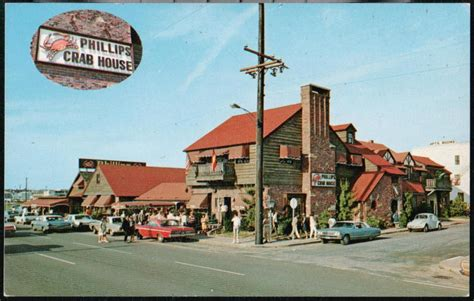 phillips crab house ocean city md ocean city md phillips crab house restaurant vintage 1960 s cars postcard old pc