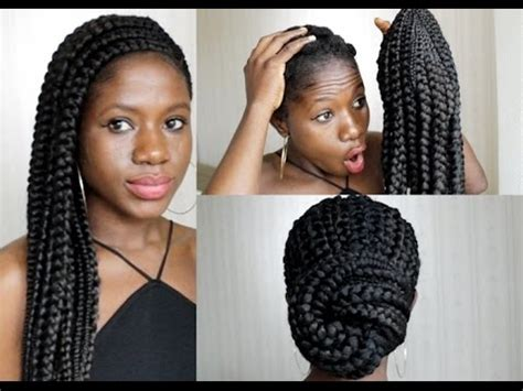 how to big cornrows wig method youtube