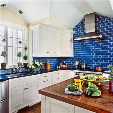 Blue Tile Backsplash Kitchen Blue Glass Tile Kitchen Backsplash Memes