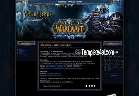 wordpress themes free world of warcraft world of warcraft e107 theme template