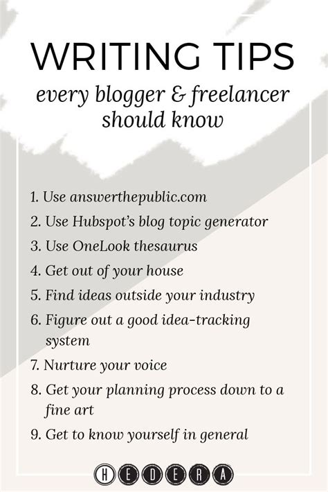 8 Tips For A Freelance Writer by Best 25 Writing Tips Ideas On
