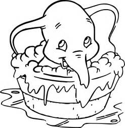 colored pages disney dumbo elephant coloring pages wecoloringpage