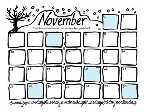 printable calendar october november december 2013 all hand drawn printable monthly calendars of 2013