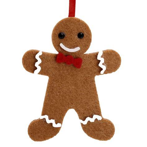 felt fabric christmas tree hanging decorations gingerbread