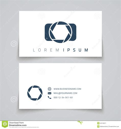 business card template with watermark business card template conceptl logo stock vector