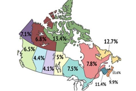 Of Saskatchewan Mba Ranking by Map Canadian Unemployment Rates By Province And Region