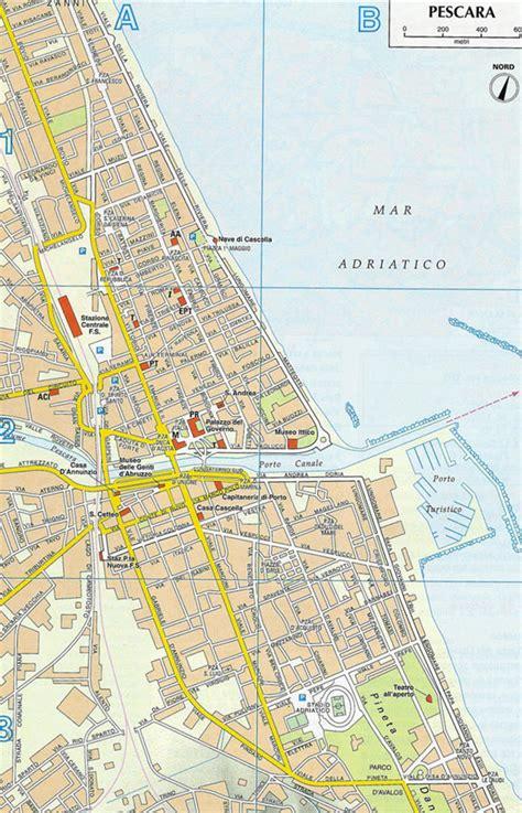 map of pescara italy map of pescara