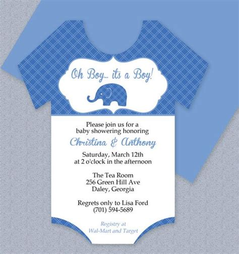 microsoft templates for baby shower plaid elephant onesie baby shower invitation editable
