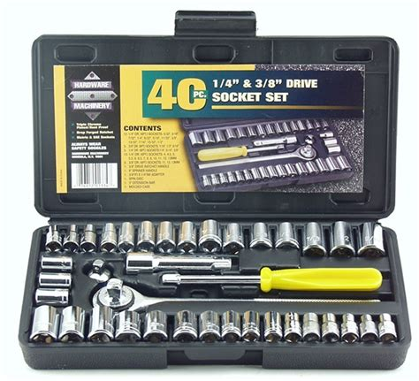 Maxpower 16 Pcs 12 Dr Socket Wrench Set Tk 073 6pt image gallery socket tools