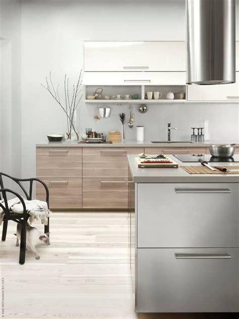 Ikea Modern Kitchen Cabinets Metod K 246 K Med Brokhult Ljusgr 229 Valn 246 Tsm 246 Nstrade L 229 Dfronter Grevsta L 229 Dfronter I Rostfritt St 229 L