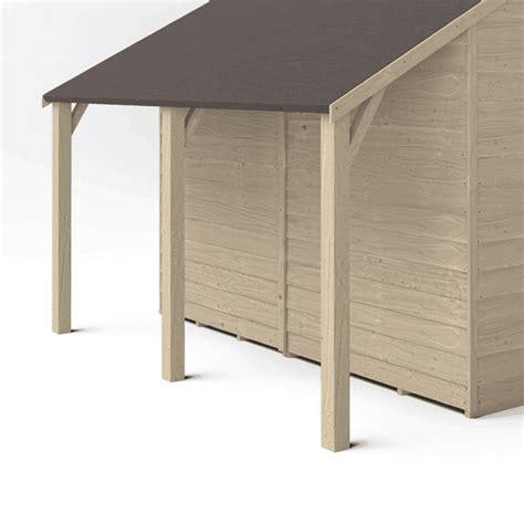 forest garden lean  shed kit  overlap pressure