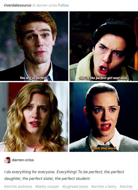 Small And Imperfectly Formed Saved By Betty betty cooper is perfectly imperfect riverdale
