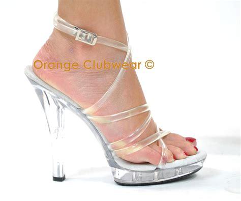 Sandal High Hells 106 28mydo pleaser lip 106 clear wrap around sandals high heels ebay