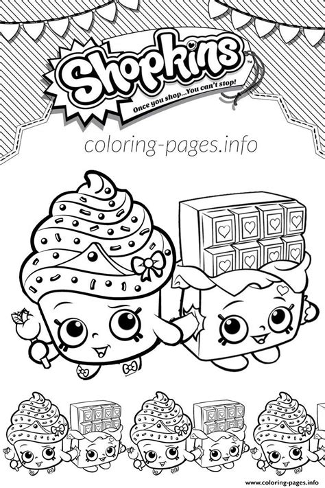 shopkins coloring pages cupcake queen shopkins cupcake queen cheeky chocolate love coloring