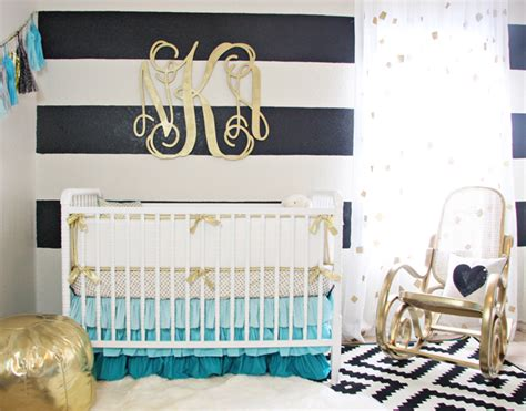 Gold Nursery Decor Gold Nursery Design We The Turquoise Accents Caden