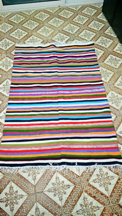Colorful Striped Rug colorful striped kilim rug