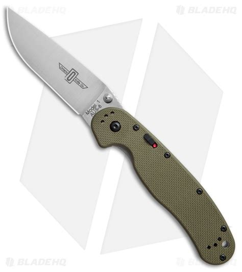 ontario rat 1 od green ontario rat model 1a assisted knife od green g 10