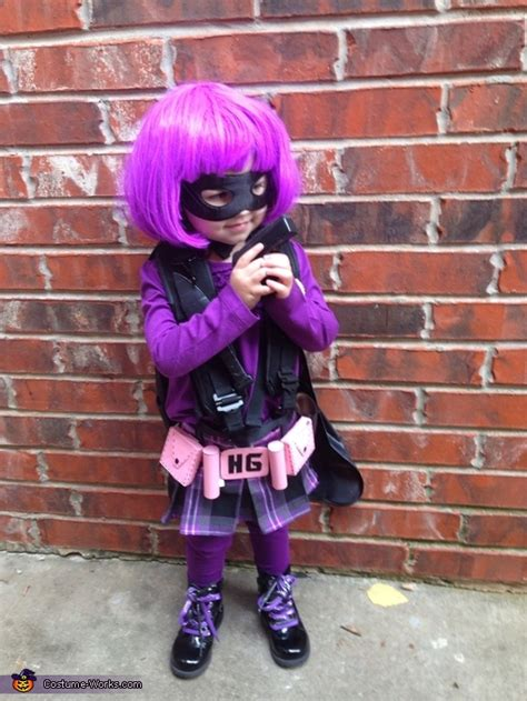 hit girl toddler costume photo