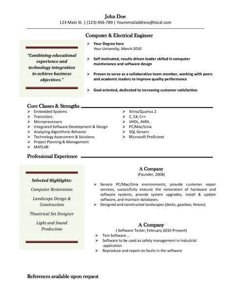 Resume Template Free Mac 9 resume template for mac