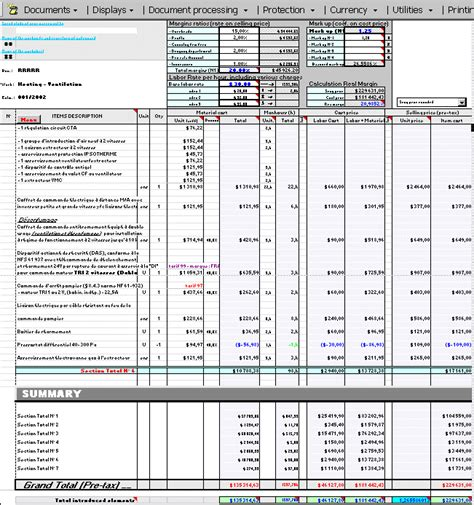 house construction cost estimate excel template useful