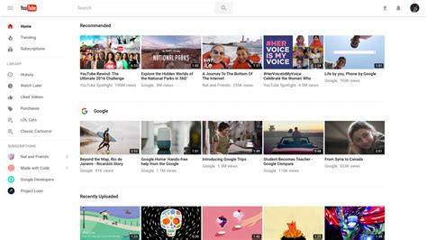 youtube layout keeps changing youtube redesigns web version business insider
