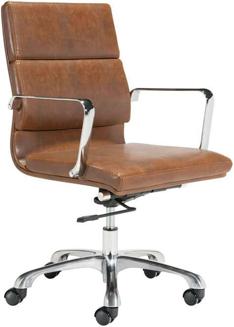 Ithaca Office Chair Vintage Brown Office Chairs 100770 4 Office Furniture Free Shipping