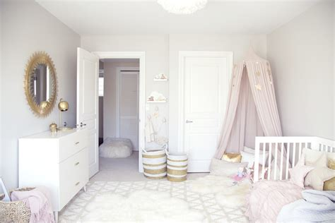 Pink And Grey Toddler Room ella s soft pink and gold toddler room winter daisy