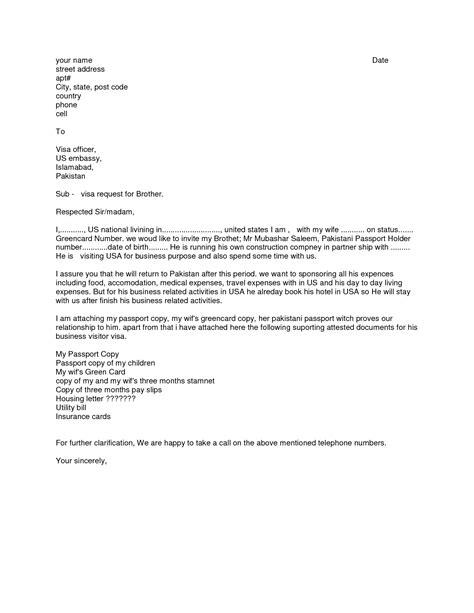 business invitation letter  usa embassy