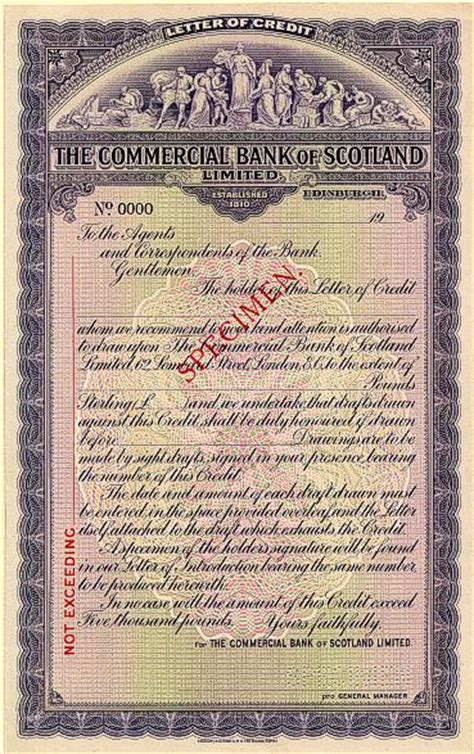 United Bank Limited Letter Of Credit Commercial Bank Of Scotland Limited Letter Of Credit Specimen Scotland