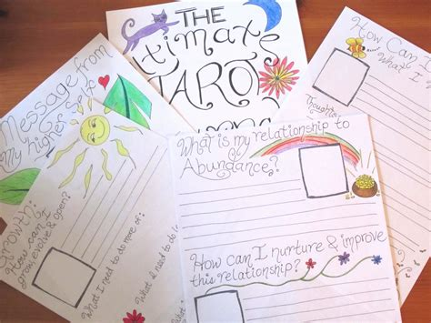 tarot journal template the ultimate tarot journal daily tarot