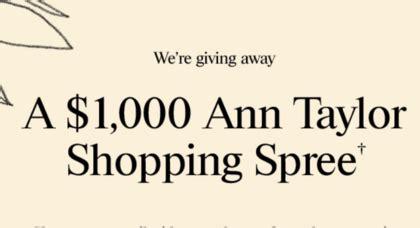 Ann Taylor Gift Card - ann taylor 1 000 gift card giveaway sun sweeps