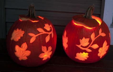 leaf pattern pumpkin carving pumpkin carving ideas