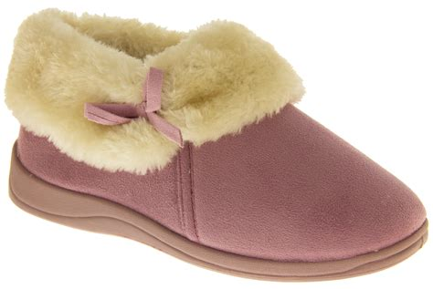pink slipper shoes womens pink dunlop slippers soft fur lined warm