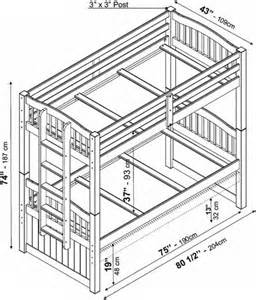 Standard Bunk Bed Mattress Size Palace Imports Triplet Bunk Bed
