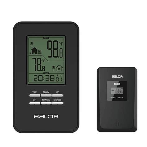 Baldr Jam Alarm Led Thermometer Weather Station With Probe aliexpress buy baldr lcd digital in outdoor thermometer alarm clock wireless weather