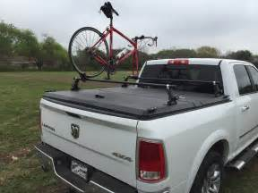 Tonneau Cover Bike Rack F150 A Truck Bed Cover Bike Rack On A Dodge Ram B