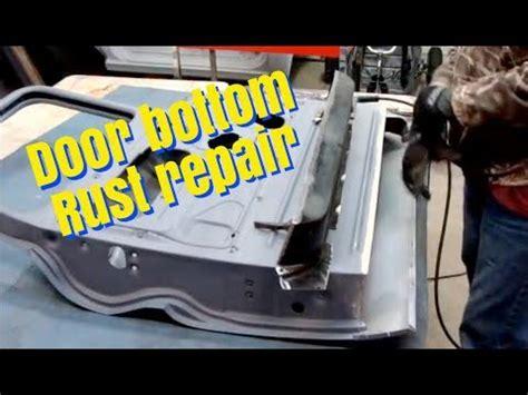 door bottom rust repair youtube