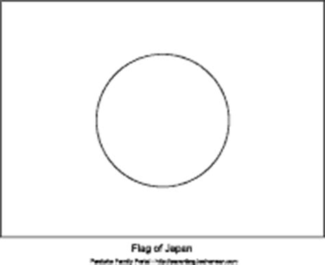 japan flag template japanese fan printable colouring page