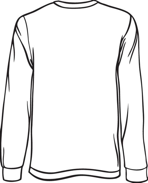 template long sleeve t shirt clipart best