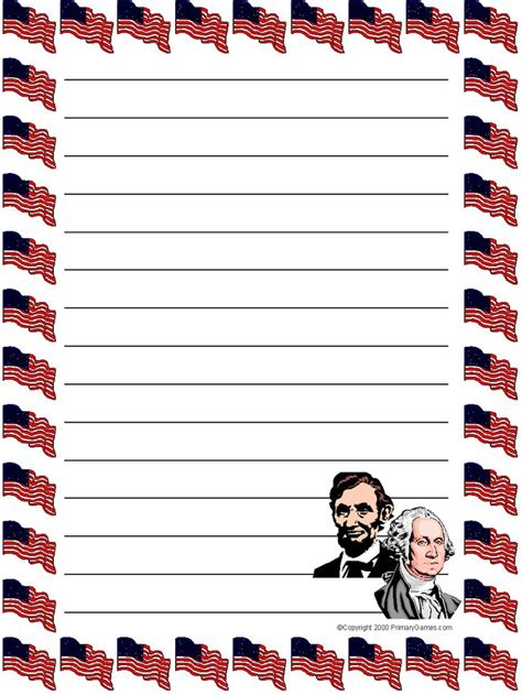 presidents day writing paper 105 best 4th of july sationery images on flags