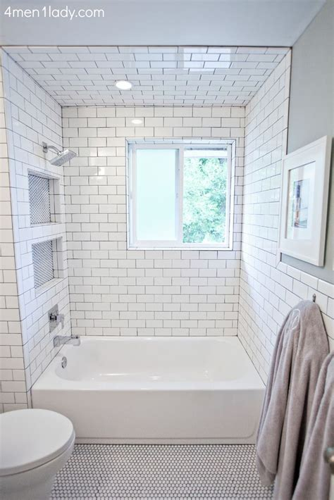 Grey And White Tiled Bathrooms by Best 25 Shower Niche Ideas On Master Shower