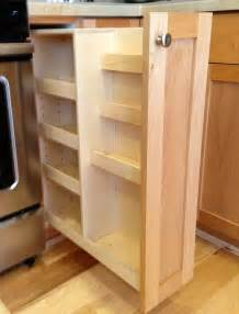 Kitchen Cabinet Pull Out Spice Rack Pull Out Spice Rack Cabinet Kitchen Pinterest
