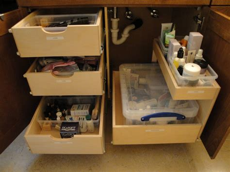 bathroom under cabinet organizers shelfgenie bathroom pull out shelves bathroom cabinets