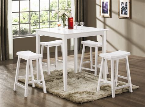 white counter height pub table 5 counter height dining pub set in white finish by