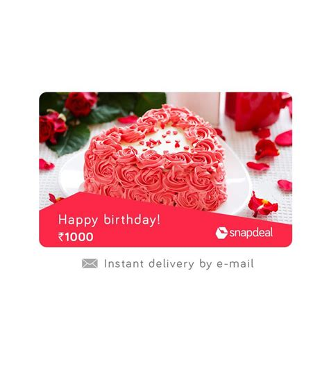 Free E Gift Cards Online - snapdeal birthday e gift card buy online on snapdeal