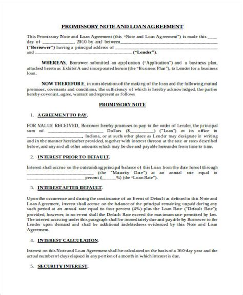 Loan Agreement Form Word Home Equity Loan Agreement Template